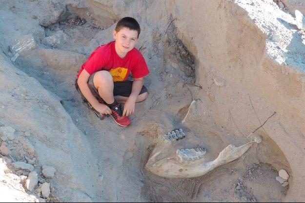 Jude Sparks a côté du fossile.