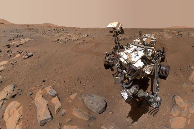 Le robot Perseverance sur Mars, le 10 septembre 2021.