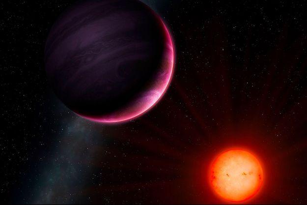 Vue d'artiste de la planète NGTS-1b.