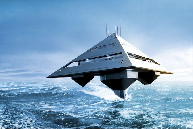 Le Tetra yacht, un yacht volant conçu par Jonathan Schwinge.