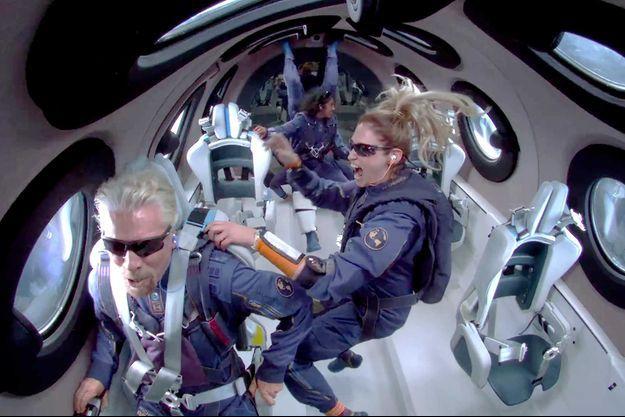 Le 11 juillet dernier, Richard Branson a atteint l'espace lors d'un vol transportant également trois autres employés de la compagnie.