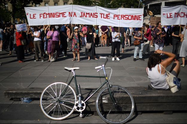 Manifestation anti féminicides le 6 juillet 2019.