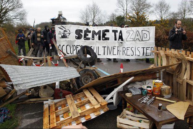 Des manifestants en avril dernier à Notre-Dame-des-Landes.