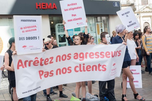 Manifestation à Nantes en juin 2018.