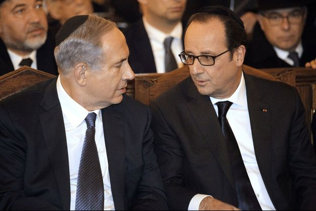 Benjamin Netanyahu et François Hollande dimanche.