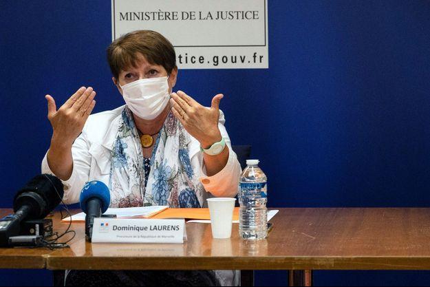Dominique Laurens en septembre 2020 lors d'une conférence de presse.
