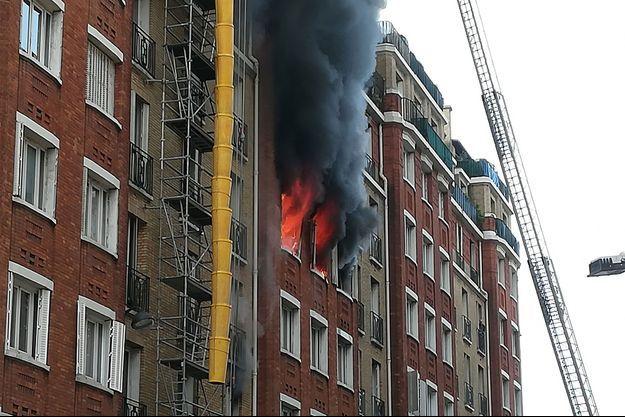 L'incendie a fait une dizaine de blessés jeudi.