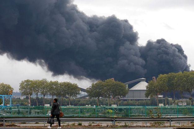 A Rouen, lors de l'incendie de Lubrizol le 26 septembre.