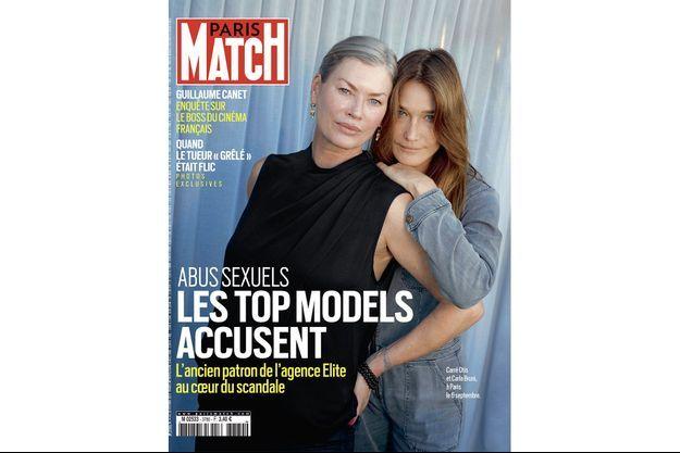 Carré Otis et Carla Bruni, à Paris le 6 septembre.