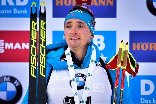 Fabien Claude a remporté son premier podium à la Coupe du monde de biathlon.