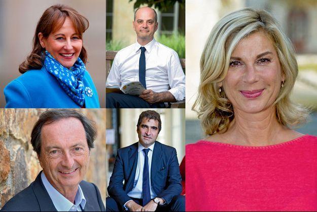 Ségolène Royal, Jean-Michel Blanquer, Michèle Laroque, Michel-Edouard Leclerc et Christian Jacob.