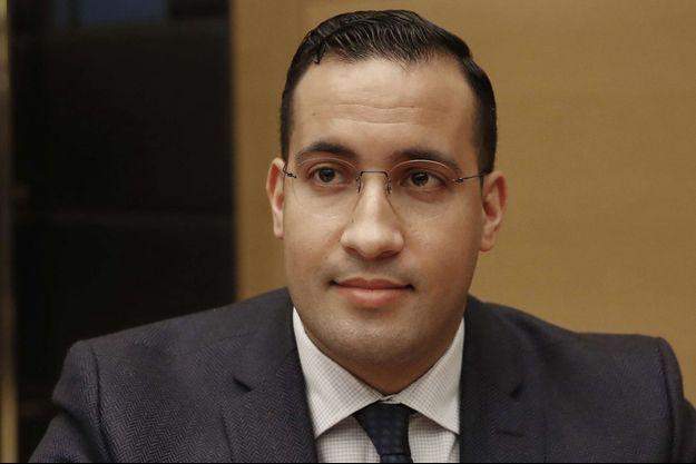 Alexandre Benalla en janvier 2019 devant la commission des lois du Sénat.