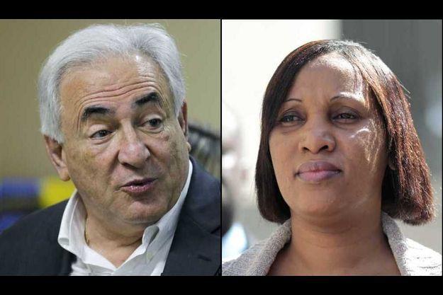 Dominique Strauss-Kahn et Nafissatou Diallo (montage).
