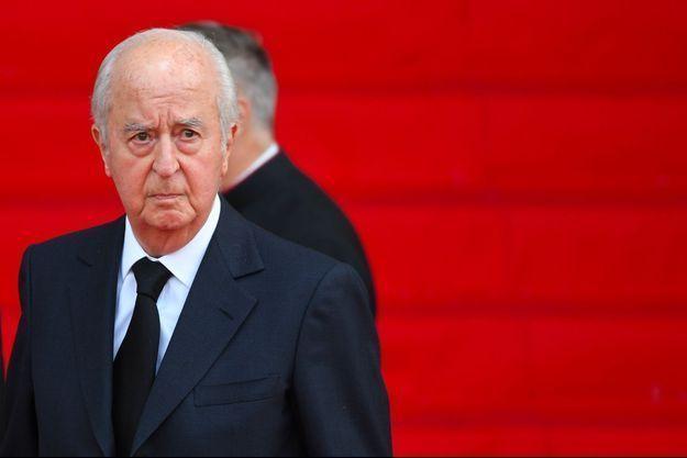 Edouard Balladur le 30 septembre 2019, lors des obsèques de Jacques Chirac.
