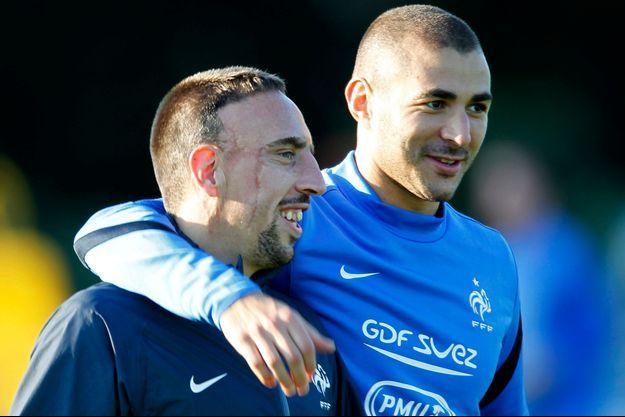 Franck Ribéry et Karim Benzema en septembre 2012.