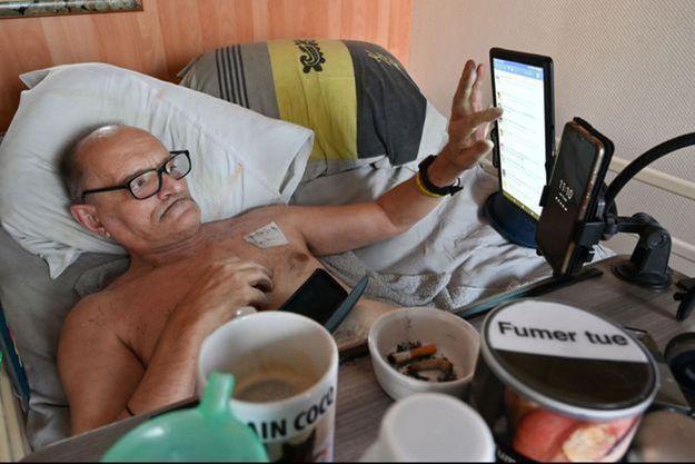 Alain Cocq, chez lui à Dijon, mi-août 2020.