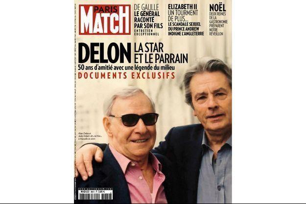 Alain Delon et Jacky Imbert, dit «le Mat», à Marseille en 2001.