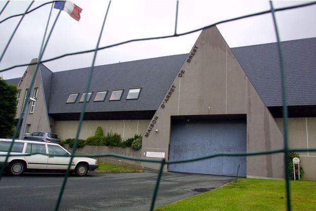 La maison d'arrêt de Brest où été incarcéré le détenu (image d'illustration).