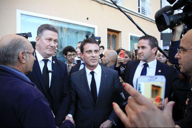 Manuel Valls en visite à Moirans, le 20 octobre dernier.