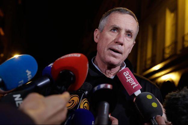 Francois Molins, au soir de l'attentat dans le quartier d'Opéra.