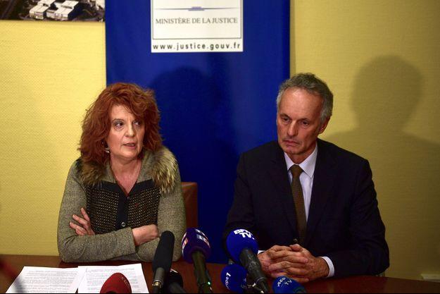 Le procureur Laure Beccuau et Philippe Bugeaud, directeur adjoint de la police judiciaire de Paris, lors de la conférence de presse du 4 janvier 2019.
