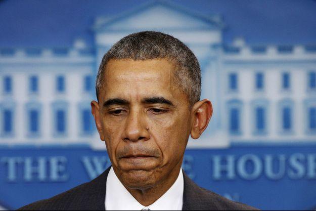 Barack Obama durant son point presse concernant les attaques à Paris.
