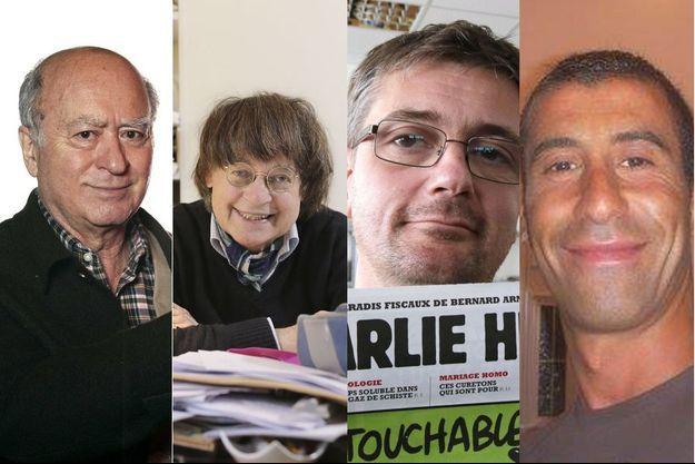 Wolinski, Cabu, Charb et Ahmed Merabet.