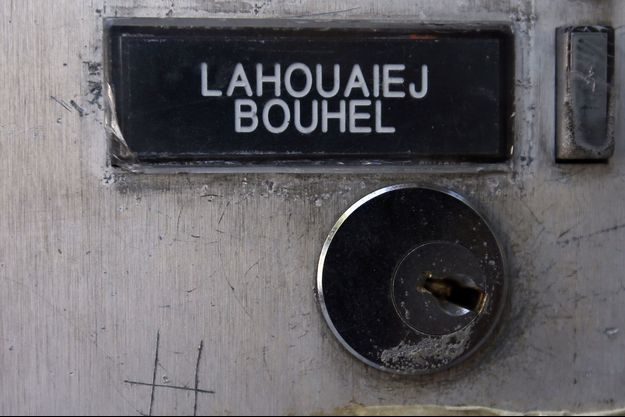 L'interphone de l'appartement de Mohamed Lahouaiej Bouhlel