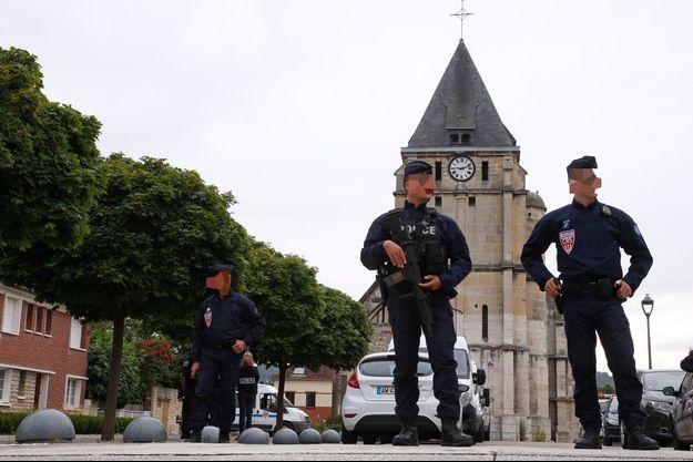 L'église de Saint-Etienne du Rouvray où le père Hamel a été assassiné.