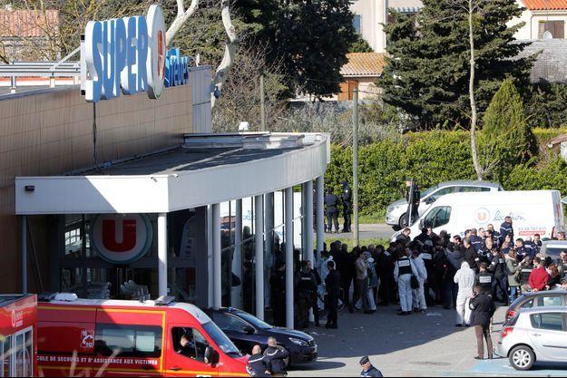 La prise d'otages s'est déroulée dans un supermarché à Trèbes.