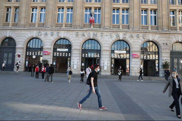 La gare Saint-Lazare à Paris.