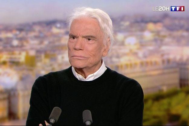 Bernard Tapie sur le plateau du 20 heures de TF1 lundi.