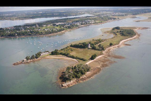 L'île de Boëdic, où a été retrouvé mort Me Olivier Metzner.