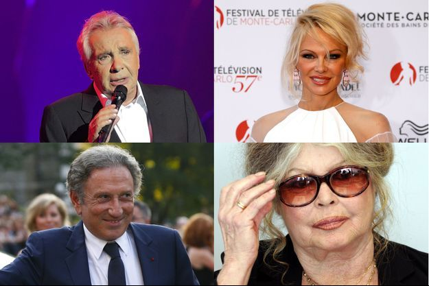 Michel Sardou, Pamela Anderson, Michel Drucker et Brigitte Bardot comptent parmi les signataires (montage)