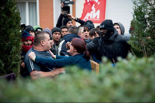 Samedi 23 janvier, à Calais. Incident avec les migrants,