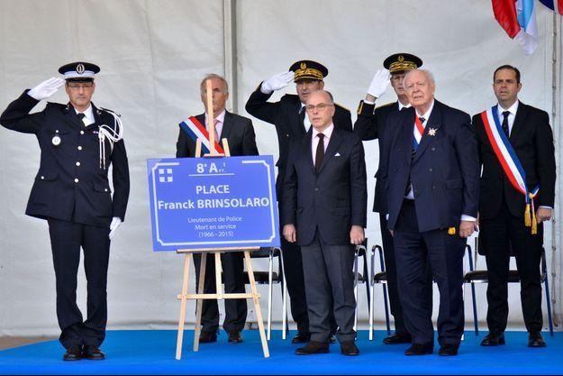 Le ministre de l'Intérieur a inauguré la place à Marseille.