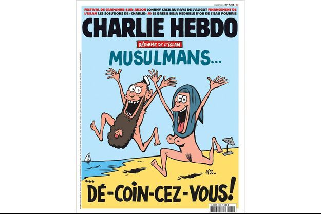 """La couverture du numéro de """"Charlie Hebdo"""" de cette semaine."""