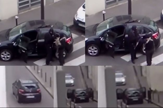 Plusieurs captures d'écran tirées de la vidéo publiée mardi par SkyNews.