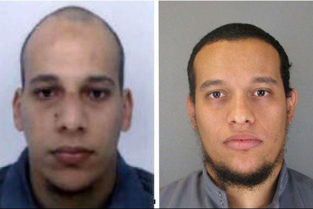 """Chérif et Saïd Kouachi, les frères auteurs de la tuerie commise à """"Charlie Hebdo""""."""