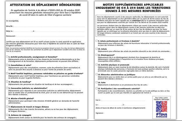 Sitôt parue sur le site du ministère de l'Intérieur, l'attestation a provoqué de nombreuses railleries sur les réseaux sociaux où elle est vue comme le comble de la bureaucratie à la française.