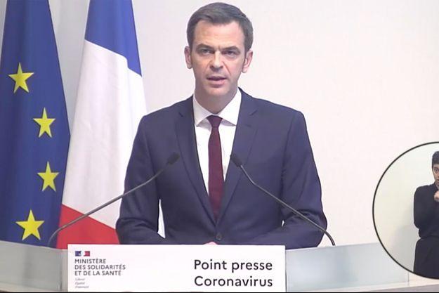 Olivier Véran lors de la conférence de presse du 21 mars 2020