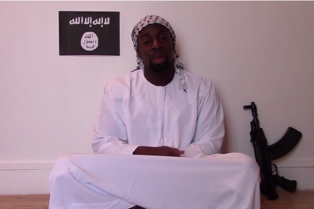 Amedy Coulibaly sur la vidéo postée par l'organe de propagande de l'Etat islamique.