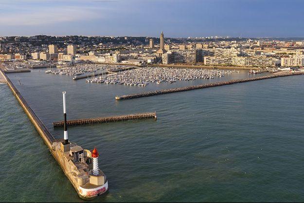 Vue du port du Havre.