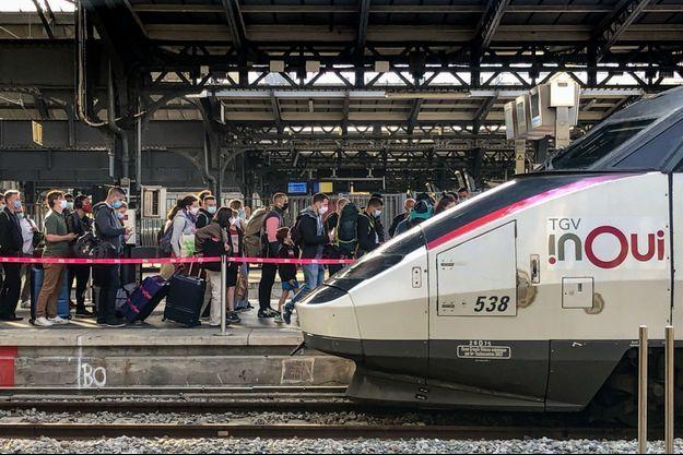 Un TGV en gare de l'Est, à Paris.