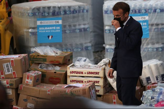 Emmanuel Macron s'est rendu à Breil-sur-Roya.