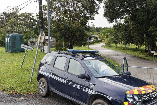Une voiture de gendarmerie en Guyane.