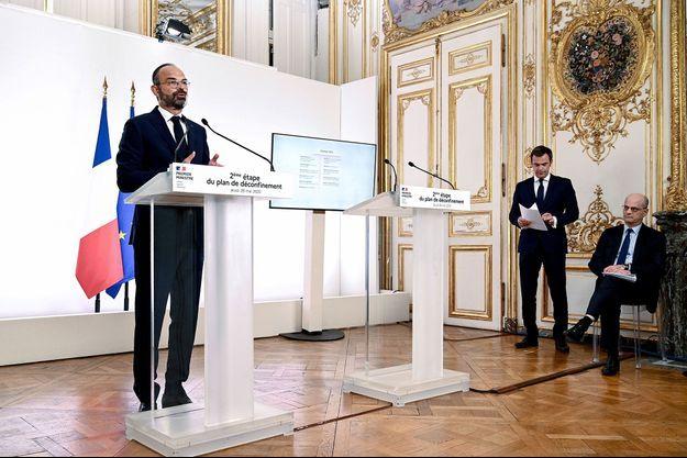 Le Premier ministre Edouard Philippe lors de sa conférence de presse, jeudi.