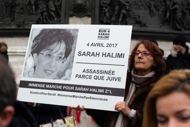 Manifestation pour Sarah Halimi en janvier 2020.