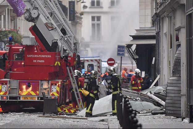 La rue de Trévise dévastée, en 2019.