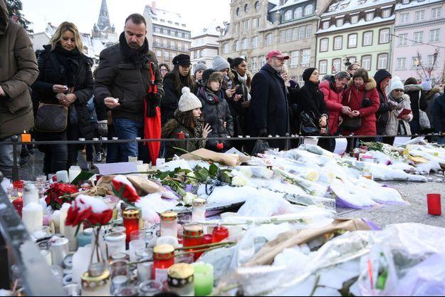 Hommage aux victimes de l'attentat de Strasbourg.